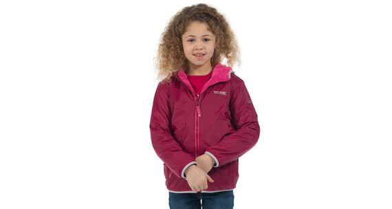 Regatta Lagoona Rain Jacket Kids Beetroot (Jem Reverse)